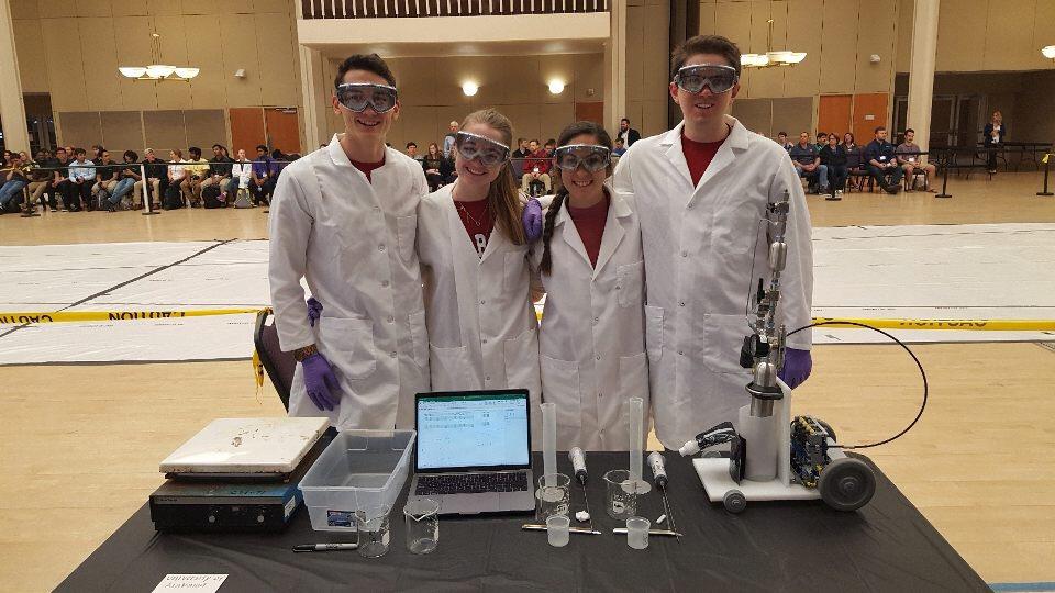 Chem-E car team